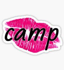 Camp Pink Lippen Sticker
