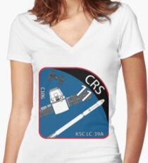 Launch Team Logo CRS-11 Women's Fitted V-Neck T-Shirt