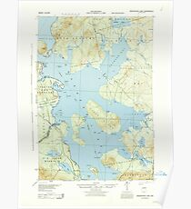 Maine USGS Historical Map Moosehead Lake 460624 1944 62500 Poster