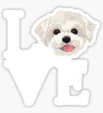 I Love Maltese Dog Lover Cute Doggie Face Sticker