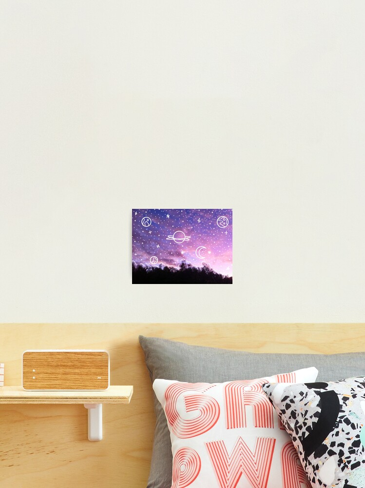 Aesthetic Tumblr Sunset Galaxy Doodle Photographic Print