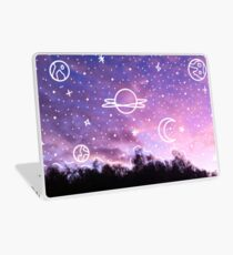 Aesthetic Tumblr Sunset Galaxy Doodle Laptop Skin