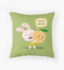 I Feel Good Rabbit Throw Pillow