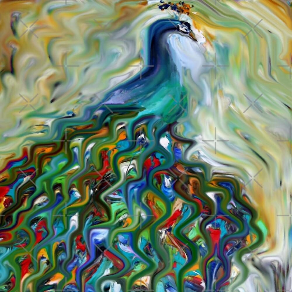 peacock, animal, wildlife, bird, nature by druidwolfart