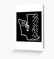 Music Sound Seattle (White) Greeting Card