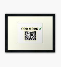 God Mode Framed Print
