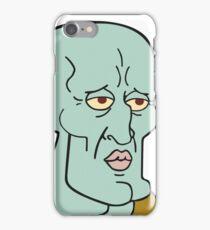 Handsome squidward iPhone Case/Skin