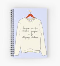 """Hangers are for REPEAL jumpers, not for alleyway abortions"" Spiral Notebook"