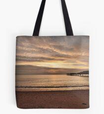 Paignton Pier Sunrise Tote Bag