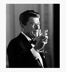 President Reagan Making A Toast Photographic Print