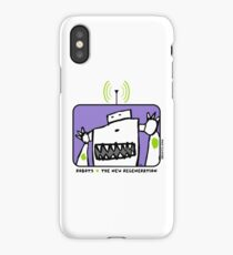Robots The New Regeneration Comic Design - Purple iPhone Case