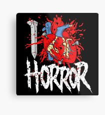 I LOVE HORROR  Metal Print