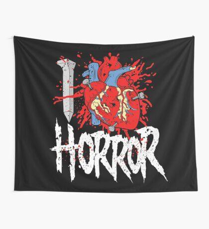 I LOVE HORROR  Wall Tapestry