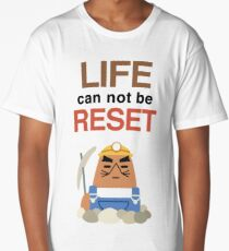 Life Can Not Be Reset! Animal Crossing UNIQLO Resetti Design Long T-Shirt