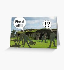 "Killed by ""friendly fire"" Greeting Card"
