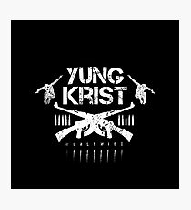 YK Bullet Club Inspired Logo (White) Photographic Print