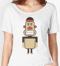 Monkey Robot Geometric Art Women's Relaxed Fit T-Shirt