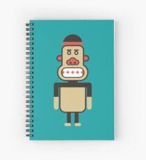 Monkey Robot Geometric Art Spiral Notebook