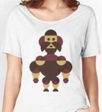 Big Muscle Robot Geometric Women's Relaxed Fit T-Shirt