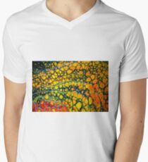 Red orange black cellular Abstract  T-Shirt