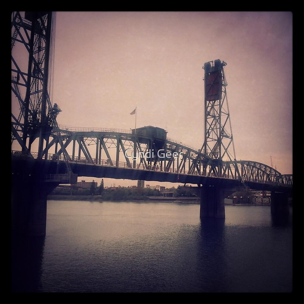 Steel Bridge, Portland by Cyndi Geer