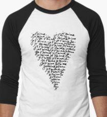 JE T'AIME - I LOVE YOU Men's Baseball ¾ T-Shirt
