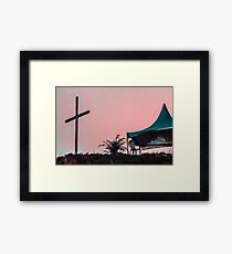 Here we are, now entertain us. Framed Print
