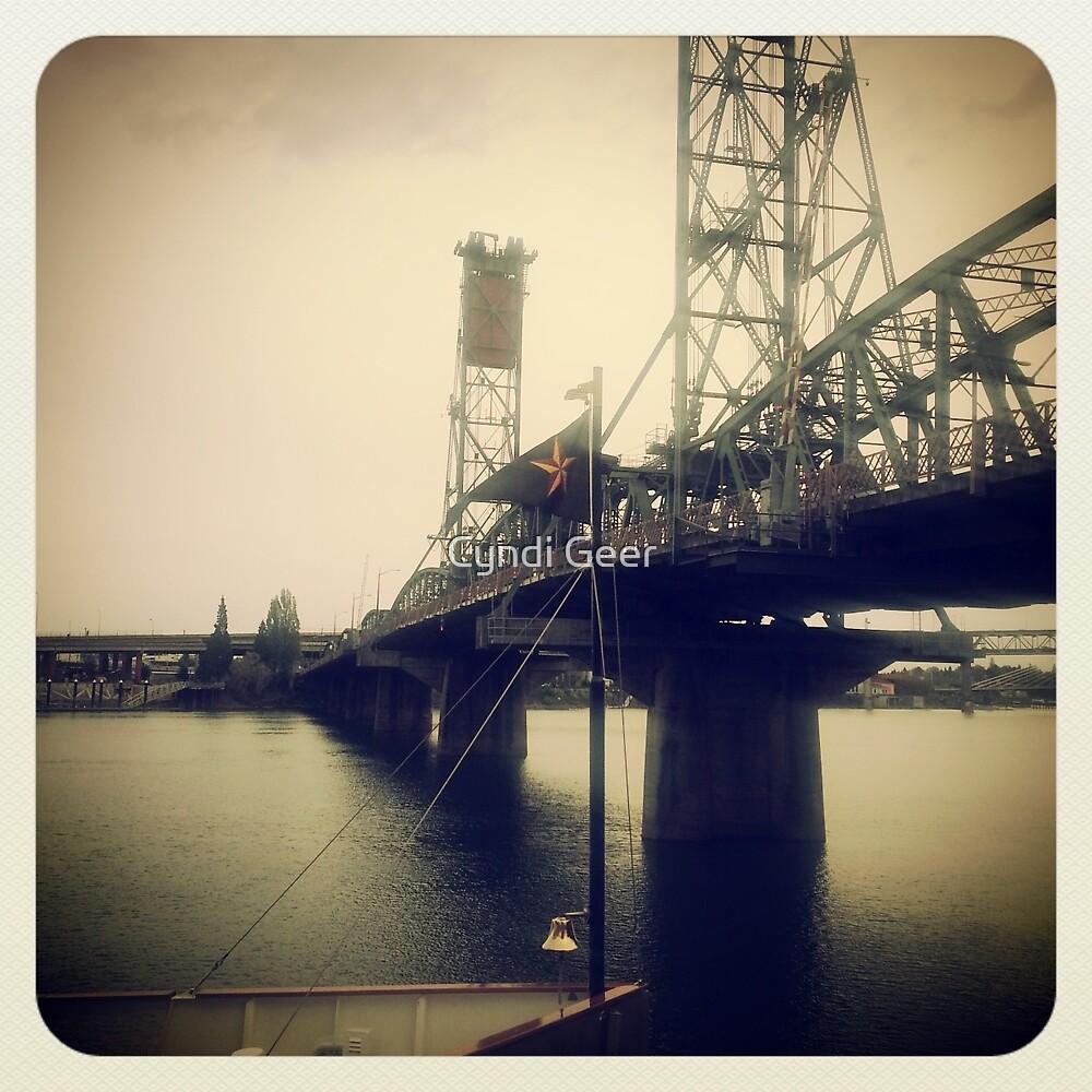 Steel Bridge, Portland 2 by Cyndi Geer