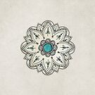 Pen sketch mandala by Melanie Moor