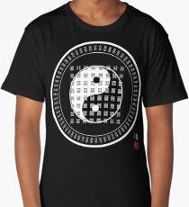 Tai Chi Yin Yang I Ching King Wen Sequence 64 Hexagrams Long T-Shirt