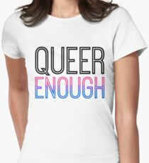Bi Pride - QUEER ENOUGH Women's Fitted T-Shirt