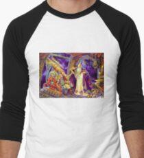 T-shirt Astrology Wise telescope tee colored art Men's Baseball ¾ T-Shirt