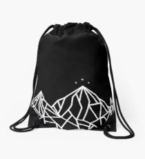 NIGHT COURT MOUNTAINS  Drawstring Bag
