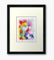 Abstract brush Framed Print
