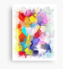 Abstract brush Canvas Print