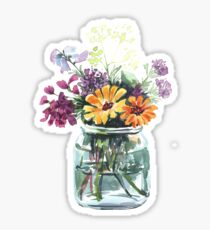 Bouquet von wilden Blumen Sticker