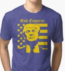 Trump - God Emperor Tri-blend T-Shirt