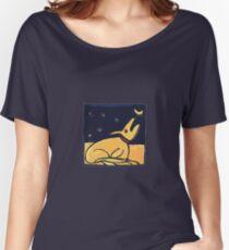 DOG MOON ART  Women's Relaxed Fit T-Shirt