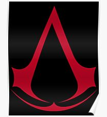 Assassin's Creed Red Logo Poster