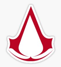 Assassin's Creed Red Logo Sticker
