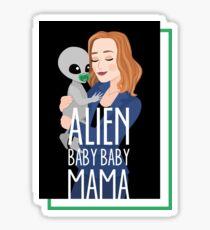 The X-Files - Alien Baby Baby Mama Sticker