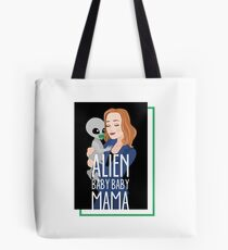 The X-Files - Alien Baby Baby Mama Tote Bag
