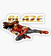 Blaze Fielding from Streets of Rage Sticker