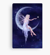 Birth of a Star Moon Fairy Canvas Print