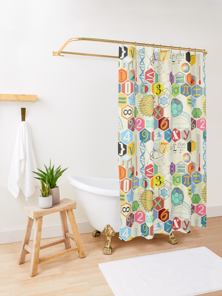Alternate view of MATH! Shower Curtain