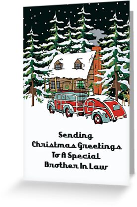 Brother In Law Sending Christmas Greetings Card by Gear4Gearheads