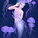 Bioluminescence Jellyfish Mermaid by Rachel Anderson