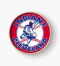 cleveland indians Clock