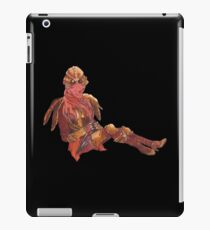 Dunmer in chitin armor - on black iPad Case/Skin