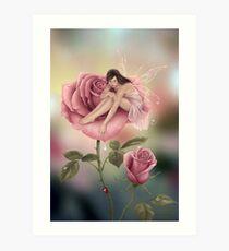 Rose Flower Fairy Art Print
